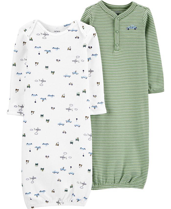 Carter's - Baby Boys 2-Pk. Vehicles Sleeper Gowns