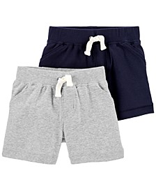 Baby Boys 2-Pk. Cotton Pull-On Shorts