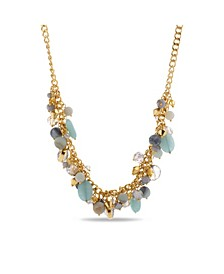 Women's Gold-Tone Beaded Bunch Necklace
