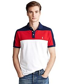 Men's Custom Slim-Fit Color-Blocked Polo Shirt