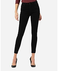 Mid Rise Super Soft Black Skinny Ankle Jeans