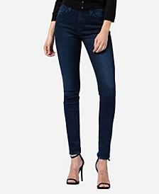 High Rise 3D Whisker Skinny Jeans
