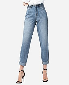 Super High Rise Rolled Up Tapered Boyfriend Jeans