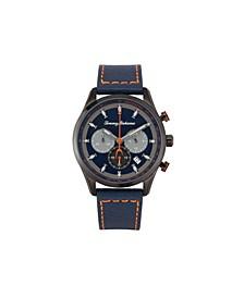 Men's Kapalua Black Leather Strap Watch, 44mm