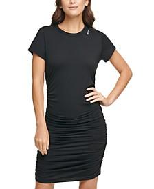 Sport Ruched Skirt T-Shirt Dress
