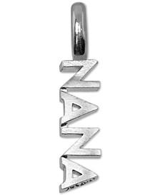 Nana Charm Pendant in Sterling Silver