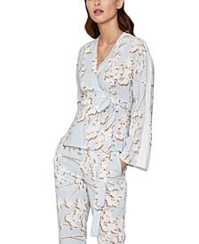 Floral-Print Wrap Jacket