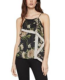 Floral-Print Asymmetrical Top