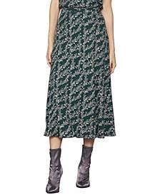 Vine-Print Maxi Skirt