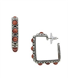 by 1928 Pewter Genuine Sandstone Square Earring