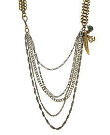 by 1928 Mixed Metal Multi Swag Layer Charm Necklace