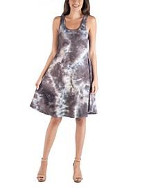 Tie Dye A-Line Fit and Flare Boho Mini Dress
