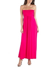 Sleeveless Maxi Dress with Empire Waist and Belt Detail