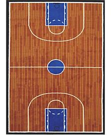 "Fun Time Basketball Court 19"" x 29"" Area Rug"