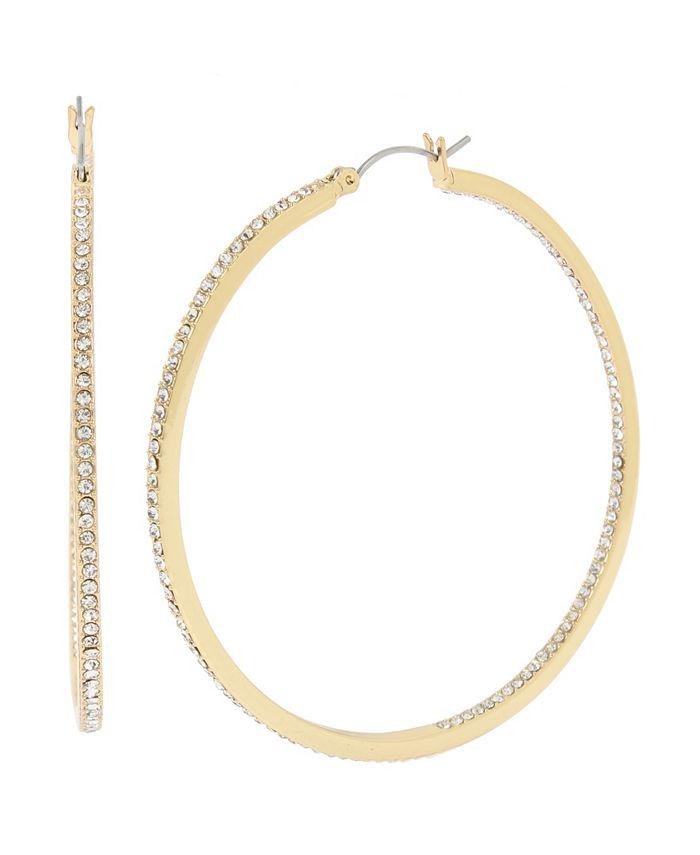"""Jessica Simpson - Pave Hoop Earrings, 2.5"""""""