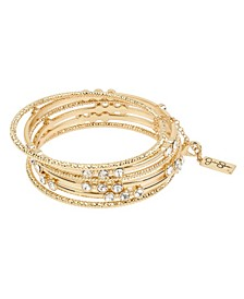Stone Mixed Bangle Bracelet Set