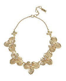 """Flower Frontal Necklace, 16"""" + 3"""" Ext"""