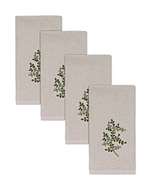 Hemmed Fingertip Towel 4 Piece Set Collection
