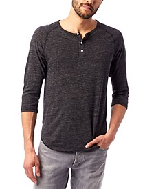 Men's Basic 3/4 Sleeve Raglan Henley Shirt