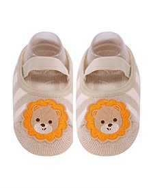 Toddler and Little Boys and Girls Socks with Lion Applique