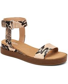 Women's Step 'N Flex Cherryll Sliver Flatform Wedge Sandals, Created for Macy's