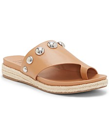 INC Women's Gilah Ball-Stud Hooded Footbed Sandals, Created for Macy's