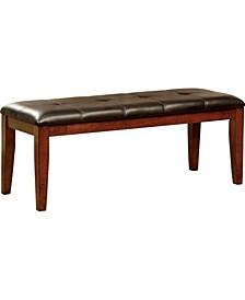 Claire Faux Leather Dining Bench