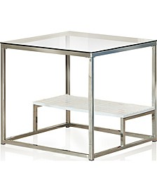 Nadia Glass Top End Table
