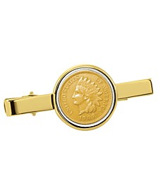 Gold-Layered Indian Penny Coin Tie Clip