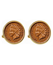 Indian Penny Bezel Coin Cuff Links