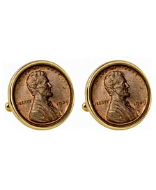 1909 First-Year-Of-Issue Lincoln Penny Bezel Coin Cuff Links