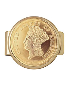 Tribute To Rare 3 Dollar Gold Coin Money Clip