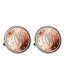 Irish 2-Euro Coin Cufflinks