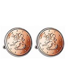 Finland 2-Euro Coin Cufflinks
