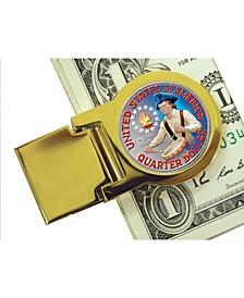 Coin Money Clip with Colorized Washington Bicentennial Quarter
