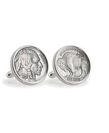 Buffalo Nickel Sterling Silver Coin Cuff Links