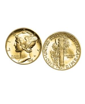 Gold-Layered Mercury Dime Coin Cufflinks