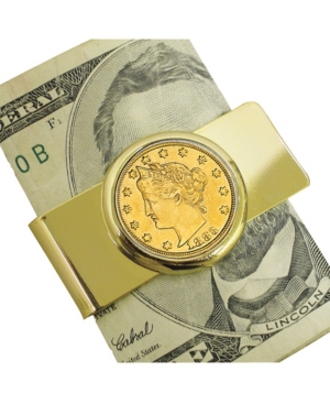 1883 First-Year-Of-Issue Gold-Layered Liberty Racketeer Nickel Coin Money Clip