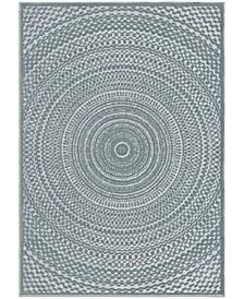 "Social Living by Jennifer Adams Cerulean Bluestone 7'9"" x 10'10"" Area Rug"