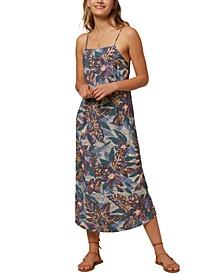 Juniors' Lexie Open-Back Midi Dress