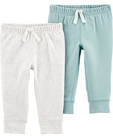 Baby Boys or Girls 2-Pack Pull-On Cotton Pants