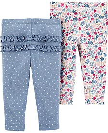 Baby Girls 2-Pack Printed Cotton Pants