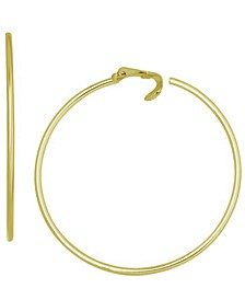 Large Clip-On Hoop Earrings, 2.16""