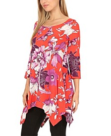 Women's Floral Tunic Top