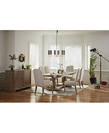 Rachael Ray Monteverdi Dining Furniture, 7-Pc. Set (Table, 4 Upholstered Side Chairs & 2 Upholstered Arm Chairs)