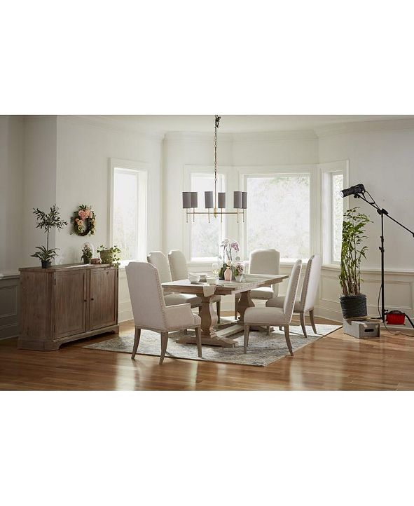 Furniture Rachael Ray Monteverdi Dining Furniture, 7-Pc. Set (Table, 4 Upholstered Side Chairs & 2 Upholstered Arm Chairs)