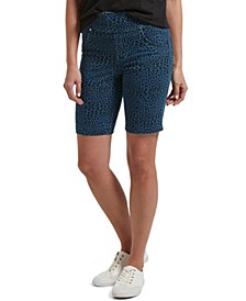 Utopia by Denim Leopard Print Bermuda Shorts, Online Only