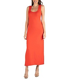 Scoop Neck Maxi Dress with Racerback Detail