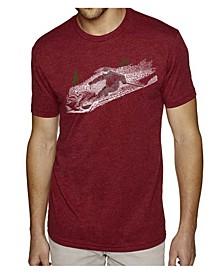 Men's Premium Word Art T-shirt - Ski