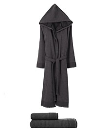 Bliss 3 Piece Towel and Unisex Robe Set